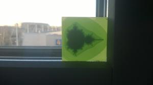 Printed fractal on window