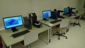 The three printers at Pasila Campus