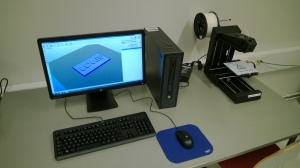 The printer attached to a PC