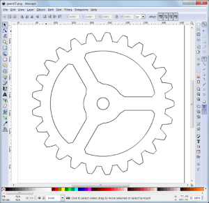 Gear snip in Inkscape