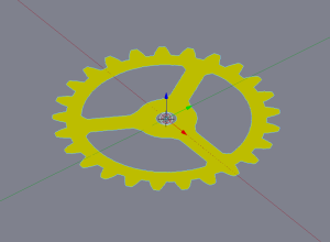 Vectored gear in Blender's Object mode