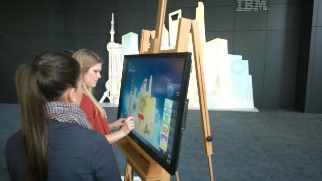 Virtual canvas at work