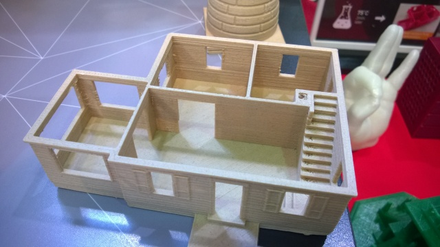 Printed wooden house