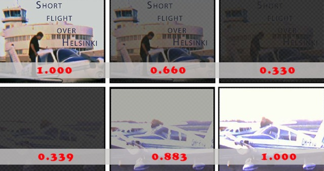Effect of keyframe opacity values (red)