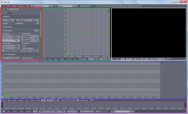 Video Sequence Editor (VSE) layout